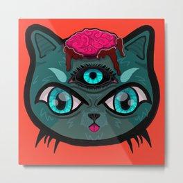 The Cat Man Metal Print