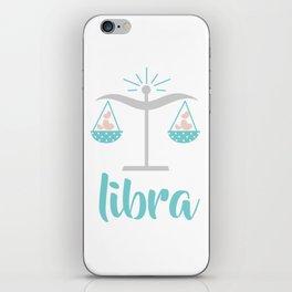 Libra Sep 23 - October 22 - Air sign - Zodiac symbols iPhone Skin
