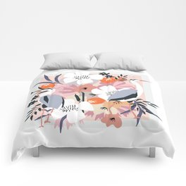 In amongst the fowers boho Heron floral garden print Comforters