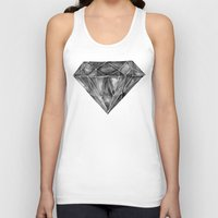 geode Tank Tops featuring Black Diamond by Cat Coquillette