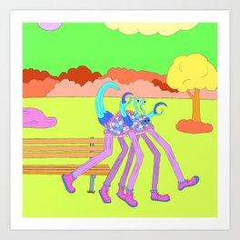 Purple Joggle Art Print