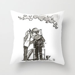Detective & The Doctor: Beekeeping Throw Pillow