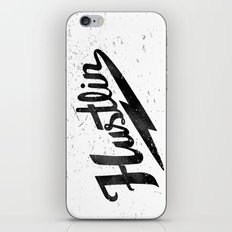 Hustlin - White Background with Black Image iPhone & iPod Skin