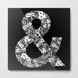 Helvetica Ampersand Metal Print