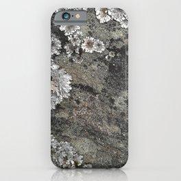 Lichen art on granite iPhone Case