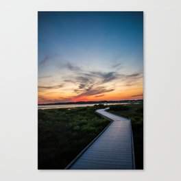 Walkway to the Sunset Canvas Print