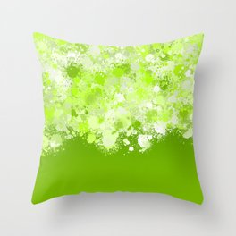 paint splatter on gradient pattern ppi Throw Pillow