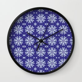 Frozen Snow Flakes Wall Clock