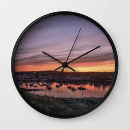 Last Rockport Sunset of Summer Wall Clock