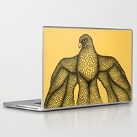 falcon Laptop & iPad Skins featuring Falcon by Julia Kisselmann
