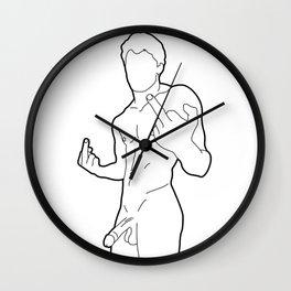 Skinflint Middle Finger Boner Wall Clock