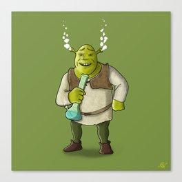 Shrek Smoking Canvas Print