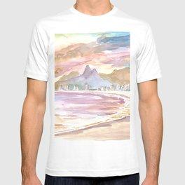 Sunset At Praia de Ipanema Rio de Janeiro Brazil T-shirt