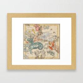 Celestial Map - Andromeda, Pegasus, Cetus (19th Century) Framed Art Print