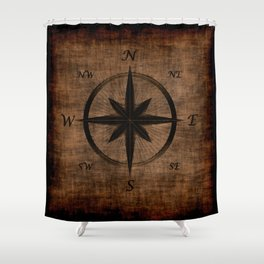 Nostalgic Old Compass Rose Shower Curtain