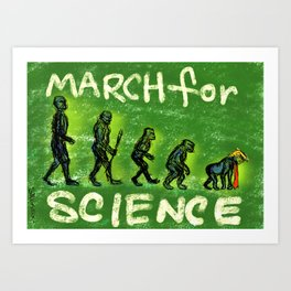 March For Science Art Print