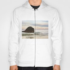 Pastel Moon rise at the beach Hoody