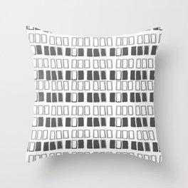 Blocks White/Grey Throw Pillow