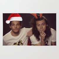 larry Area & Throw Rugs featuring Funny Larry Stylinson Christmas by girllarriealmighty