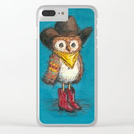 Cowboy Owl Clear iPhone Case