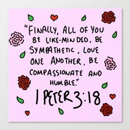 1 Peter 3:18 Canvas Print