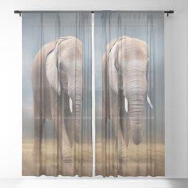 Elephant tour Sheer Curtain