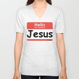 Hello Jesus Unisex V-Neck