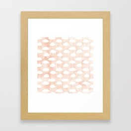 Coral clouds Framed Art Print