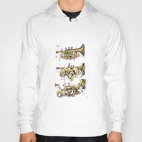 trumpet Hoodies featuring Trumpet Melt by Dan Lisowski Illustration