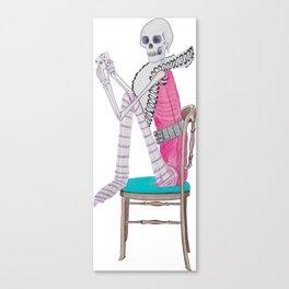 circus skeleton Canvas Print
