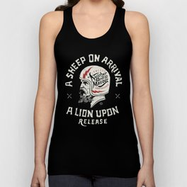 A sheep on arrival /Helmet Unisex Tank Top