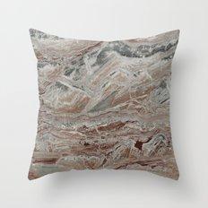 Arabescato-Orobico Fine Marble Throw Pillow