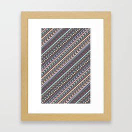 Barcelona Stripes Framed Art Print