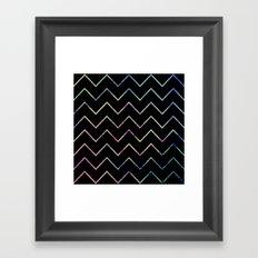 Chevron Night Framed Art Print