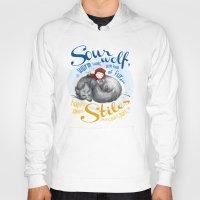 stiles Hoodies featuring Sterek Sleepy Wolf & Stiles I by siny