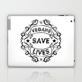 Vegans Save Lives Laptop & iPad Skin