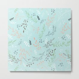Light And Lovely Spring Floral Garden Pattern Metal Print