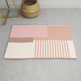 Sol Abstract Geometric Print in Pink Rug