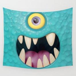 Cartoony monster face Wall Tapestry