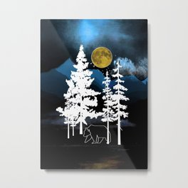 Full Moon Rising II Metal Print