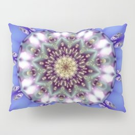 Romantic Blue Kaleidoscope Pillow Sham