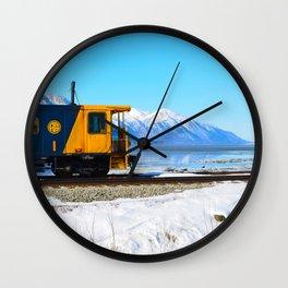 Caboose - Alaska Train Wall Clock