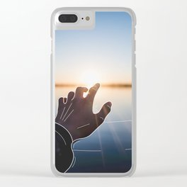 Line Sunset Clear iPhone Case