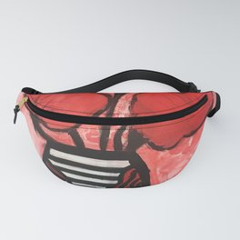 Red Blooms Fanny Pack