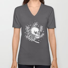 Growth With Departure ~ White Unisex V-Neck