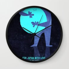 For Japan with love Wall Clock
