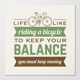 Bike Quote Canvas Print