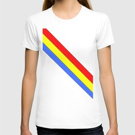 Flag of romania 4 -romania,romanian,balkan,bucharest,danube,romani,romana,bucuresti T-shirt