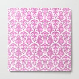 Floral Pattern Pink Metal Print