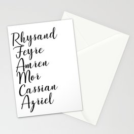 Night Court Names Stationery Cards
